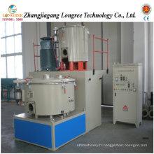 Unité de mélangeur en plastique, mélangeur en plastique de poudre de PVC, mélangeur de PVC à grande vitesse