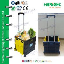 2 wheels plastic foldable cart