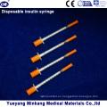 Jeringas de insulina desechables de 1cc Jeringas de insulina de 0.5cc Jeringas de insulina 0.3cc (ENK-YDS-047)