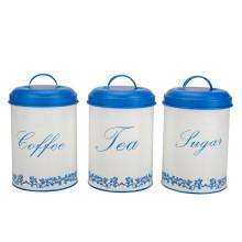 Coffee Tea & Sugar Canisters Set 3