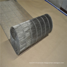 Stainless steel wire mesh conveyor belt with ladder