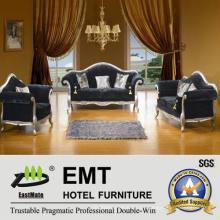 Sofá de lujo de la sala de estar del hotel de la tela (EMT-T89)
