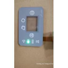 pulsador impermeable LED interruptor de botón táctil de membrana