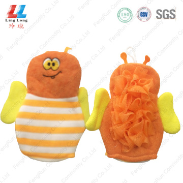 Activating animal bath bee style gloves
