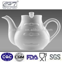Chinese style Tang suit shaped bone china tea pot