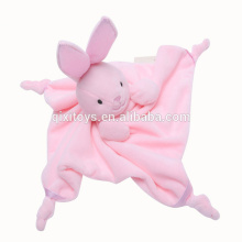 La venta caliente promocional del oso de peluche del bebé de la felpa juega el juguete suave de la manta para el bebé