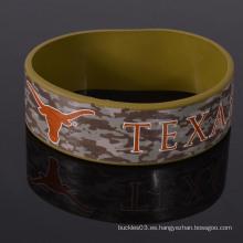 Wristband de encargo popular del silicón del camuflaje para el ejército