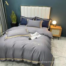 Deluxe Home Textile Sleep Cool 100% Cotton Hotel Bedding Gray 3PCS