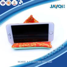 Soporte del teléfono celular personalizado microfibra haba bolso