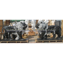 Stone Granite Marble Lion Sculpture for Garden Animal Statue (SY-D229)