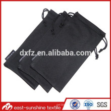 Wholesale OEM Drawstring Microfibre Glasses Pouch with Label