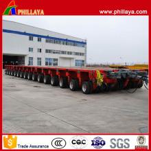 16 Rows 32 Hydraulic Swing Axles 400 Tons Modular Trailer