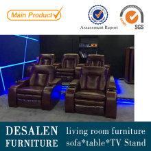 Sofá reclinable de cuero Home Theater (G038)