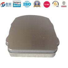Food Grade Rectangular Hinged Tin Containers Tea Tin Battery Case