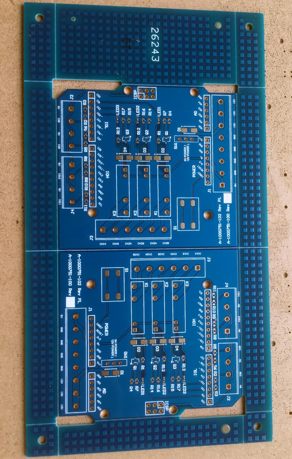 4 layer blue solder PCB