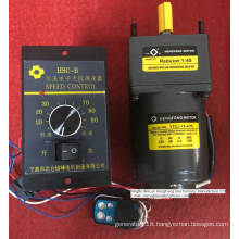 Induction AC gear motor with remote controller