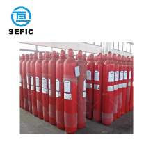 Used for fire fighting 34CrMo4 200bar 68L seamless steel co2 cylinder 45 kg