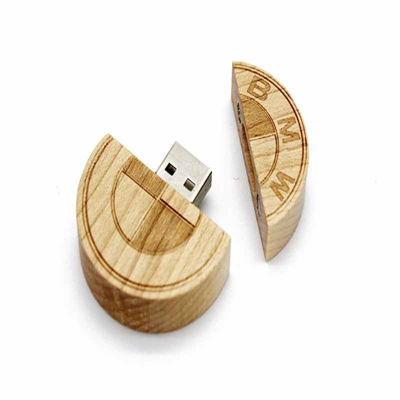 Trending Hot Products Wooden Coin Usb