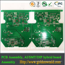 FR4 6layer pcb with milled grooves good quality dvr pcb board