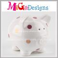 Wholesale OEM Service Lovely Pig Shaped Ceramic Piggy Bank