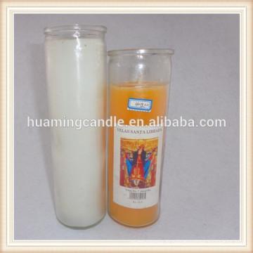Bougies religieuses en verre