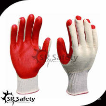 SRSAFETY 10G Knitted hand protective gloves with working/Man's working gloves with high quality and cheap price