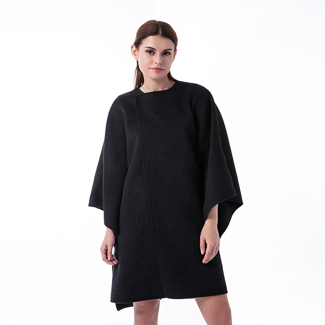 New black cashmere winter coat
