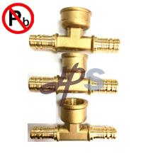Низкий свинец латунь металл трубы PEX трубы фитинги производитель