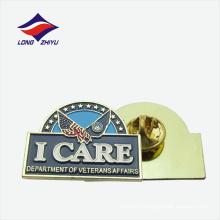 Профессиональная изготовленная на заказ трудная эмаль ветеранов глянцевая pin отворотом