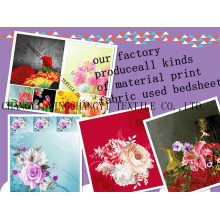 100% Cotton pigment print bed sheet fabric