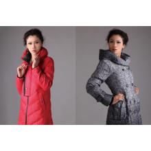 Jaqueta longa de inverno para mulher, espessa e quente, exportação