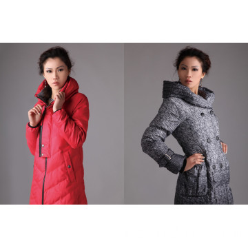 Frauen Winter lange Daunenjacke Dicker warmer Export