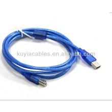 USB 1.8M 6 FT câble de données d'extension pour lecteur de code-barres Câble de connexion pour epson canon