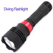 Linterna de buceo de 10 vatios prueba de agua linterna de alta potencia linterna de buceo