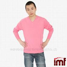 V-neck Knitted Cashmere Sweater for Men