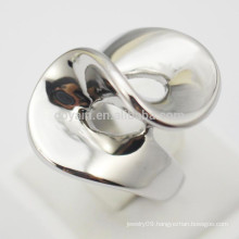 2015 Fashion Jewelry Stainless Steel Sliver Womens Spiral Rings
