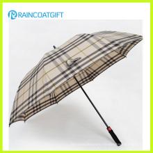 Fashion Plaid Outdoor Straight Rain Umbrella