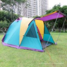 Auvent imperméable à l'eau de camping en plein air 3-4 personnes double tente