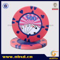 15g 2-Color Clay Poker Chip avec Sticker, Sy-F08