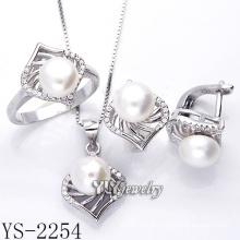 Jóias de moda Pearl Set prata 925 para a mulher (YS-2254)