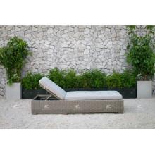 ALAND COLLECTION - Nouveau design PE Wicker rattan en plein air double lit de jour