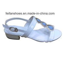 2016 mais recente moda de alta qualidade senhoras de diamante sandálias de salto de cunha