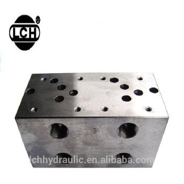 colector com válvulas blocos de alumínio fresados com válvula