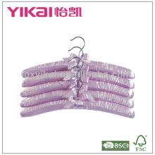 Satin padded hanger with lavender scent, chrome hook