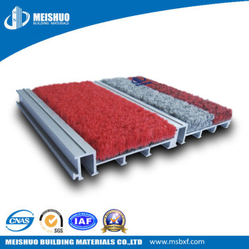 Tapis de sol encastrés en aluminium pour le contrôle de la poussière