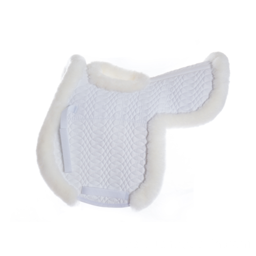 Pretty Sheepskin Saddle Pads Manta con agujero