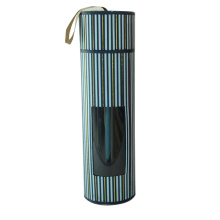 Nova caixa de presente de tubo de papel de design com janela