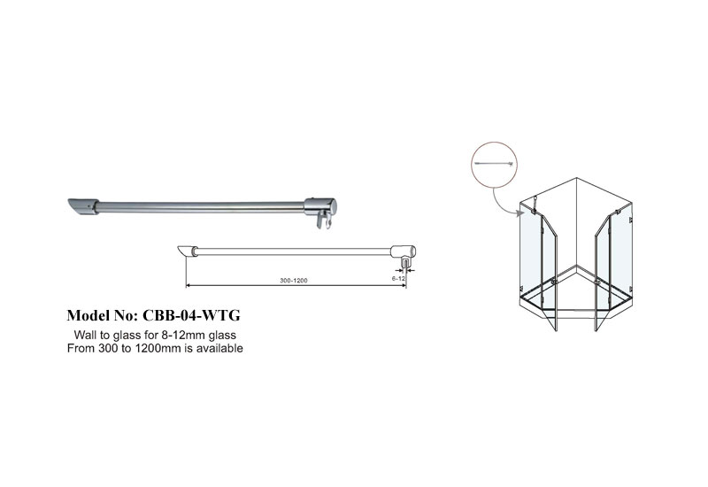 Adjustable Shower Room Support Bar B