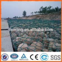 Caixa de gabião galvanizado / caixa de gabião de pedra / malha de gabião revestida de pvc