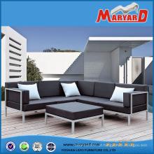 Mobília exterior de alumínio ajustada do jardim do sofá seleto ocasional do metal